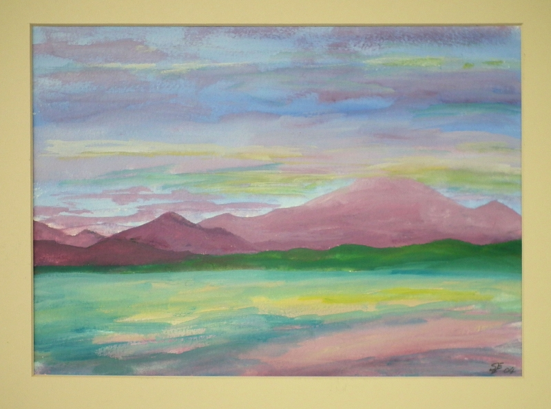 Evening Light Ben Cruachan mounted