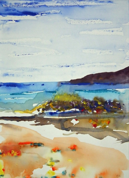 Low Tide gouache