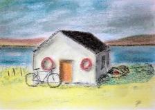 Ferrymans hut pastel