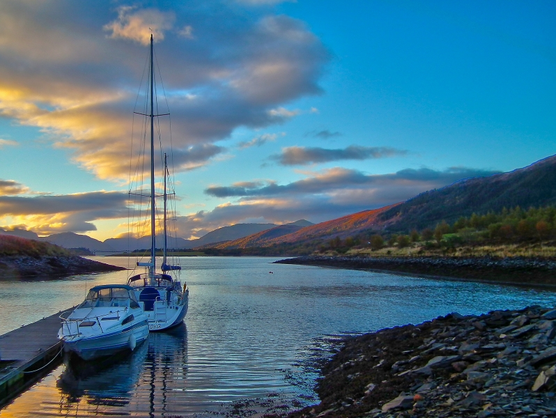 mod_S-Ballachulish port sunset 03 HDR